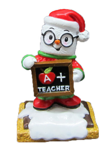 MM20021 - Marshmallow Teacher Personalized Christmas Ornament