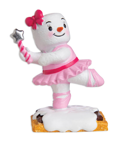 MM20022 - Marshmallow Ballerina Personalized Christmas Ornament