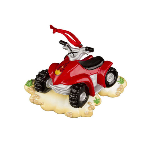 OR1009 - 4 Wheeler Personalized Christmas Ornaments