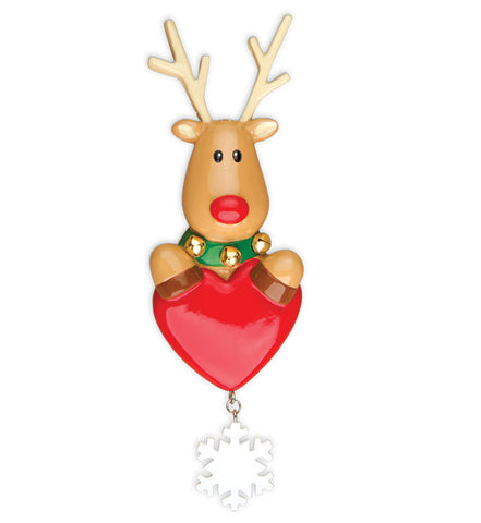 OR1018 - New Reindeer Personalized Christmas Ornament