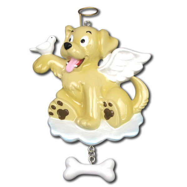 OR1050 - Dog Angel Personalized Christmas Ornaments