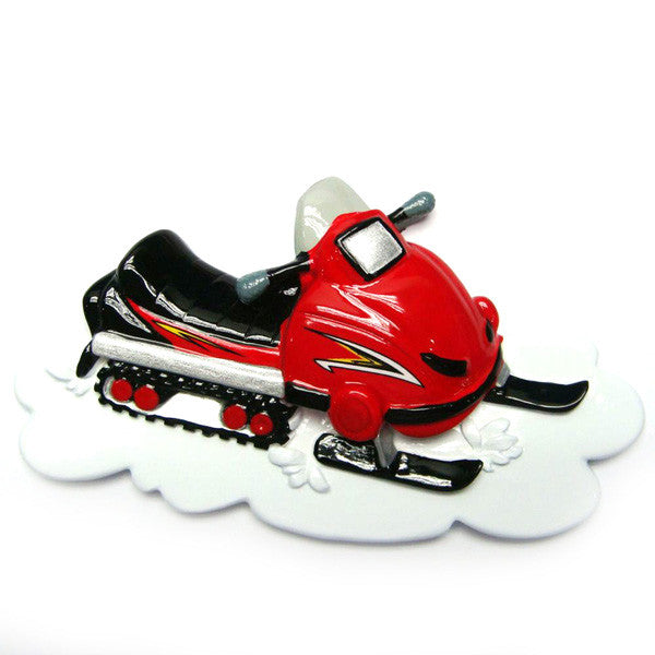 OR1058 - Snowmobile Personalized Christmas Ornaments