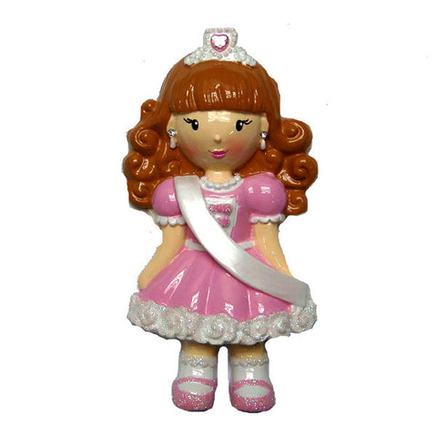 OR1109 - Child Pagent Girl Personalized Christmas Ornaments