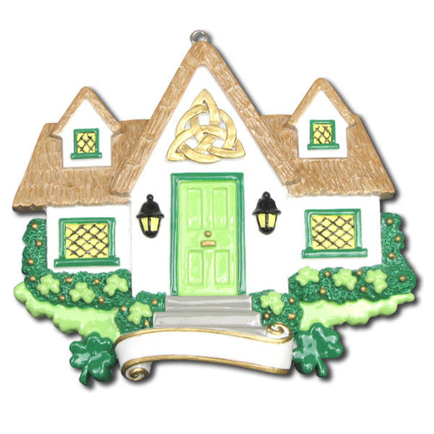 OR1125 - New Irish House Personalized Christmas Ornaments