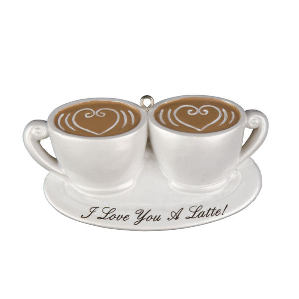 OR1129 - Couple I Love U Latte Personalized Christmas Ornaments