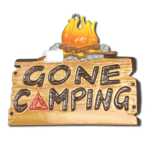 OR1131 - Gone Camping Personalized Christmas Ornaments