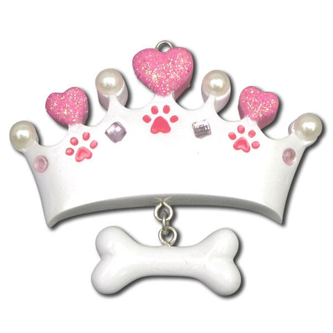 OR1147 - Princess Dog Bone Personalized Christmas Ornaments