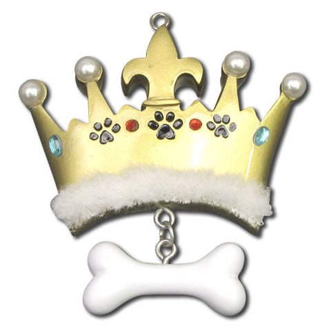 OR1148 - Prince Dog Bone Personalized Christmas Ornaments