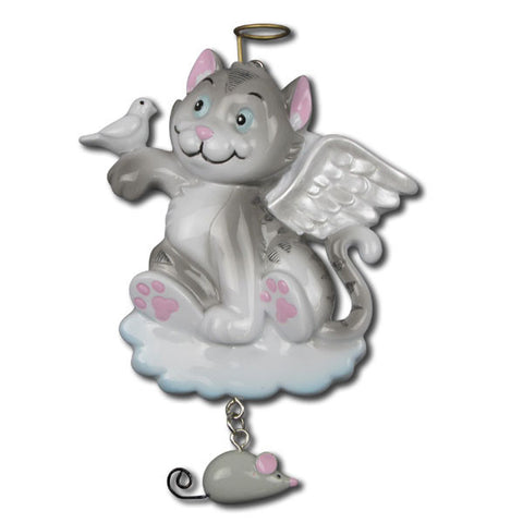 OR1149 - Cat Angel Personalized Christmas Ornaments