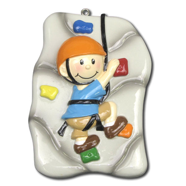 OR1152 - Rock Climber Personalized Christmas Ornaments