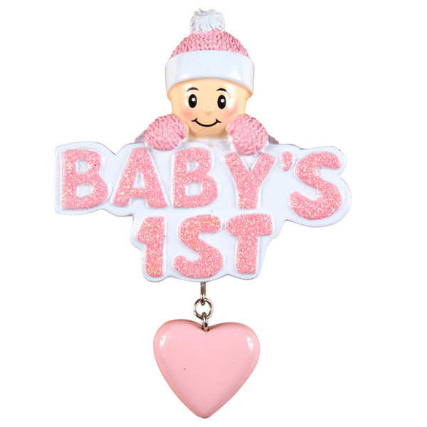 OR1175-P - Baby's 1st w/Girl In Pink Cap