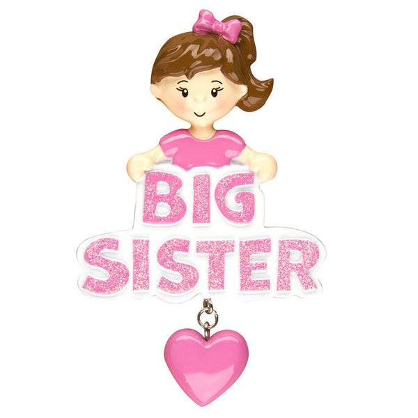 OR1204 - Big Sister Personalized Christmas Ornament