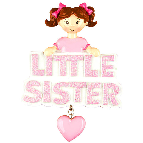 OR1206 - Little Sister Personalized Christmas Ornament