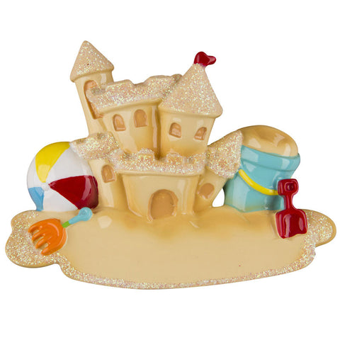 OR1226 - Sandcastle Personalized Christmas Ornament