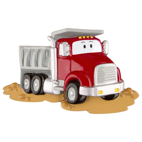 OR1229 - Dumptruck Personalized Christmas Ornament