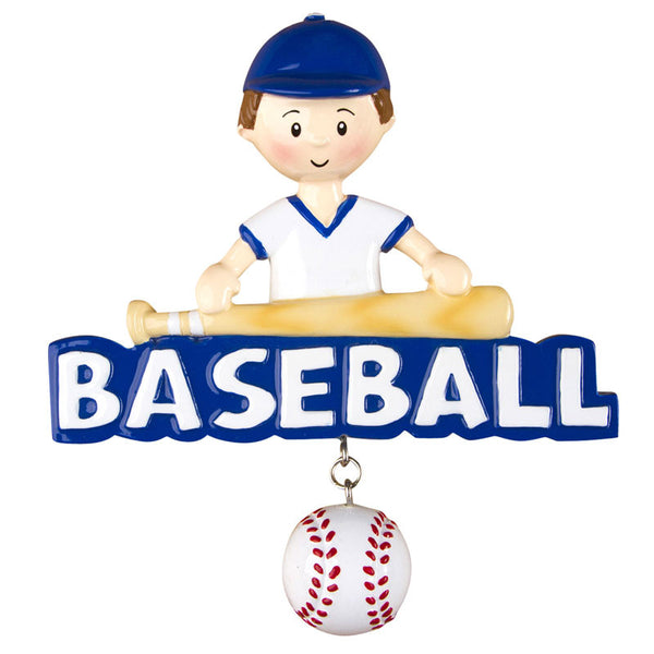 OR1238 - Baseball (Boy) Personalized Christmas Ornament