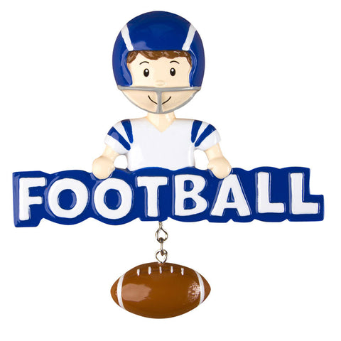 OR1239 - Football (Boy) Personalized Christmas Ornament