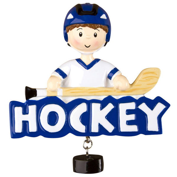 OR1241 - Hockey (Boy) Personalized Christmas Ornament
