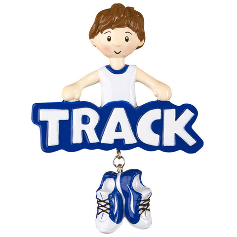 OR1242-B - Track (Boy) Personalized Christmas Ornament