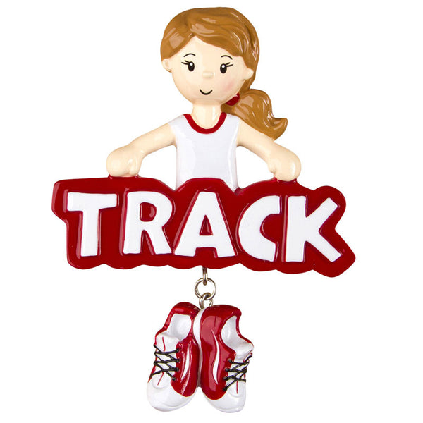 OR1242-G - Track (Girl) Personalized Christmas Ornament