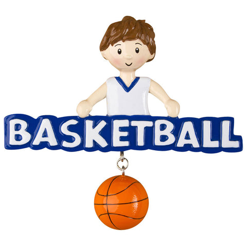 OR1243-B - Basketball (Boy) Personalized Christmas Ornament