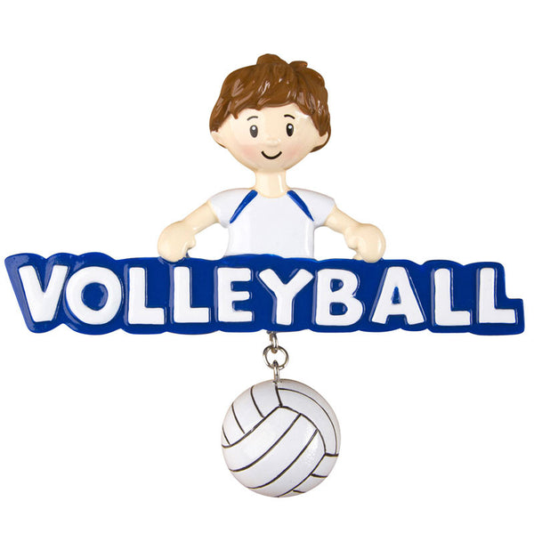 OR1245-B - Volleyball (Boy) Personalized Christmas Ornament