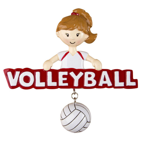 OR1245-G - Volleyball (Girl) Personalized Christmas Ornament