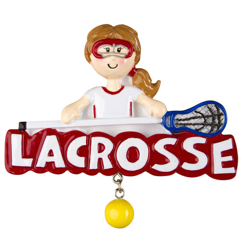 OR1246-G - Lacrosse (Girl) Personalized Christmas Ornament