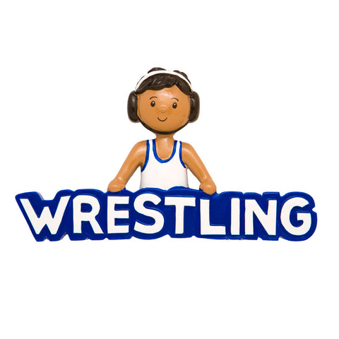 OR1249 - Wrestler Personalized Christmas Ornament