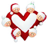 OR1258-6 - Heart with Faces 6 Personalized Christmas Ornament