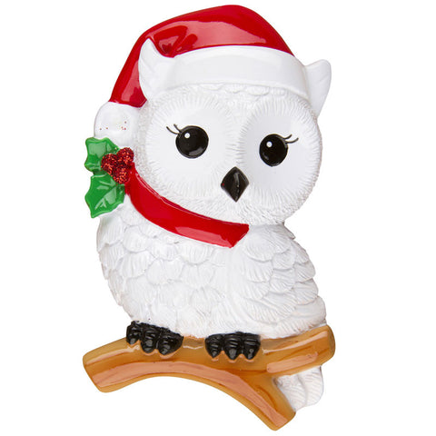 OR1265 - Snowy Owl Personalized Christmas Ornament