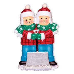 OR1272-2 - Snow Shovel (Couple) Christmas Ornament