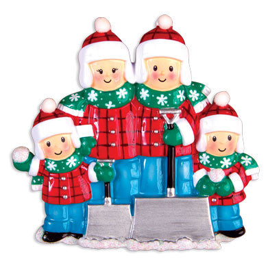 OR1272-4 - Snow Shovel (Family of Four) Christmas Ornament