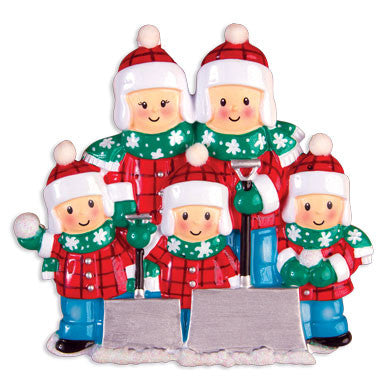 OR1272-5 - Snow Shovel (Family of Five) Christmas Ornament