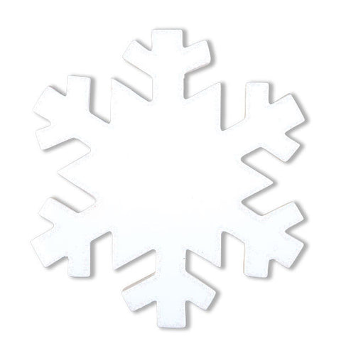 OR1274 - Plain White Snowflake Personalized Christmas Ornament