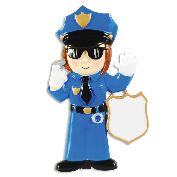 OR1287-W - Policewoman Personalized Christmas Ornament