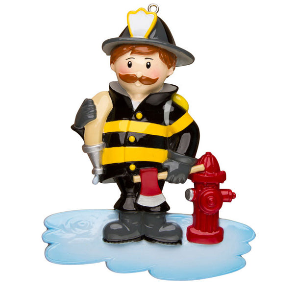 OR1288 - Fireman Personalized Christmas Ornament
