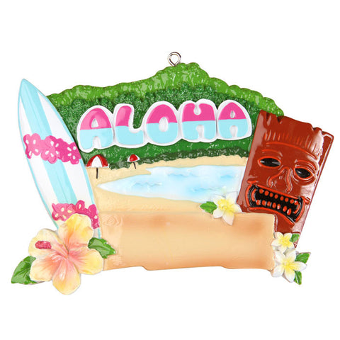 OR1294 - Hawaii Personalized Christmas Ornament