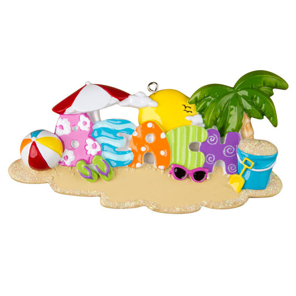 OR1304 - Beach Personalized Christmas Ornament
