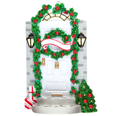 OR1308 - Front Door Personalized Christmas Ornament