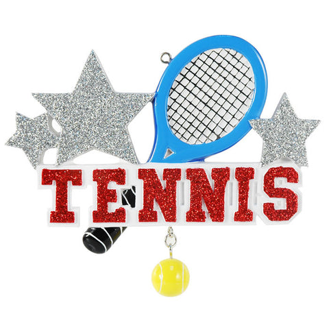 OR1314 - Tennis Personalized Christmas Ornament