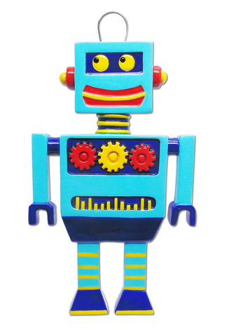 OR1325 - New Robot Personalized Christmas Ornament