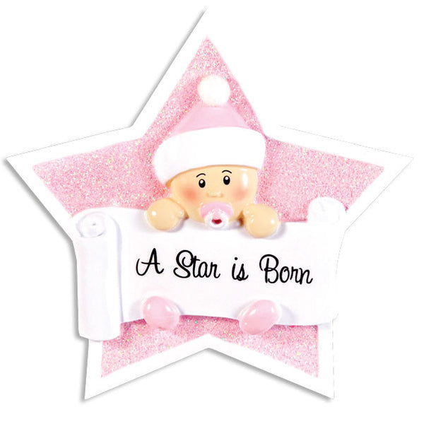 OR1338-P - Girl On Star Personalized Christmas Ornament