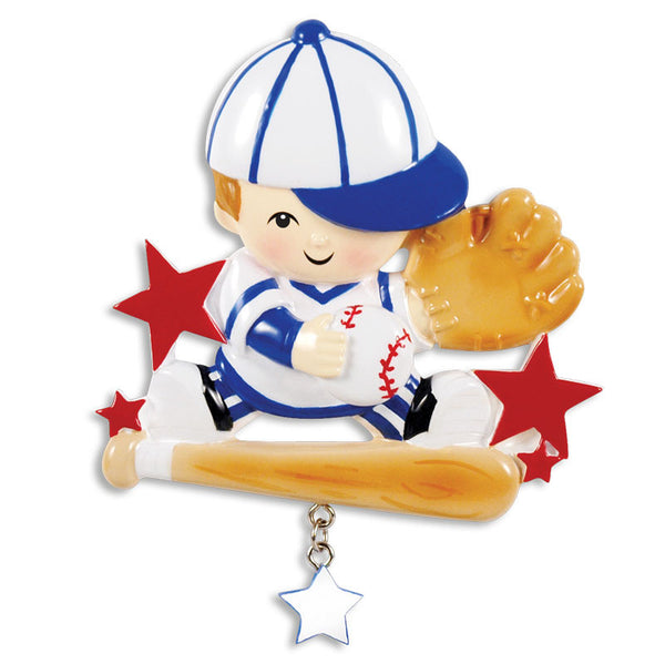 OR1342 - 'Lil Slugger Personalized Christmas Ornament