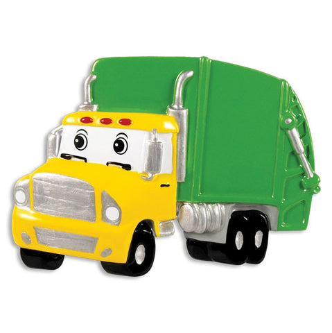 OR1346 - Garbage Truck Personalized Christmas Ornament