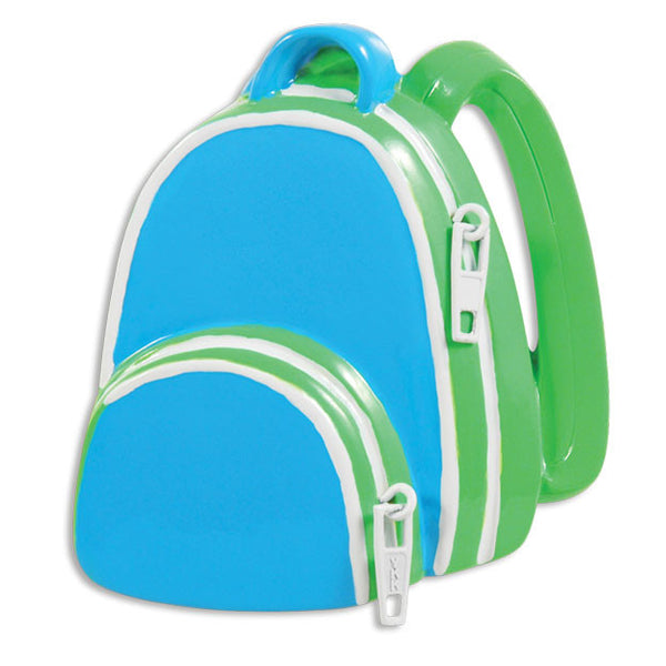 OR1347-B - Boy School Backpack Personalized Christmas Ornament