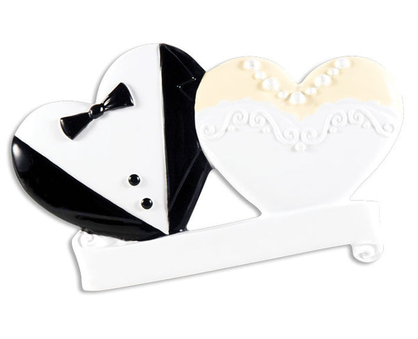 OR1357 - Bride & Groom Wedding Cookies Personalized Christmas Ornament