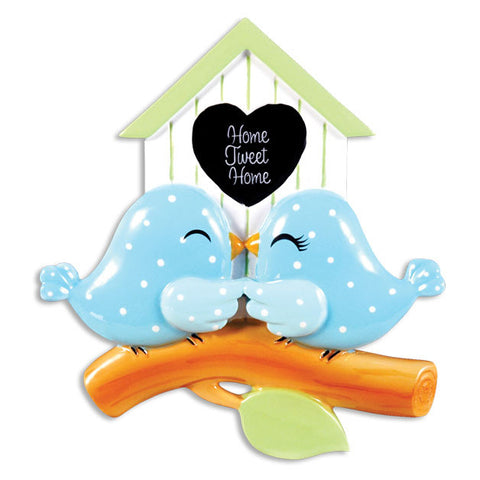 OR1358 - Birdhouse Couple Personalized Christmas Ornament