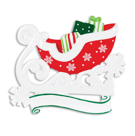 OR1368 - Christmas Sleigh Personalized Christmas Ornament