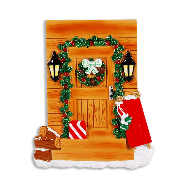 OR1374 - Rustic Country Door Personalized Christmas Ornament